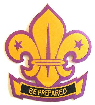 World Scout Badge (Fleur de lis) - sew on or iron on 80mm x 92mm