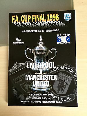 Manchester United Liverpool FA Cup Final 1996 Match Day Programme Rare