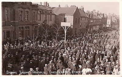 Shrove Tuesday Football, Chester-Le-Street. RP. Posted 1911.