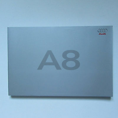 Audi A8 Folder containing A8 and A8 Details Brochures (2005)