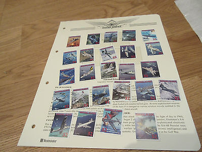 Lot 25 Mint Stamps Marshall Islands Legendary Aircraft of US Navy Aviation