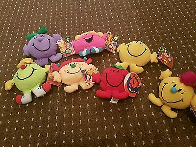 job lot of 7 Mr.men /Little miss Beanies 1996-1999 collectables