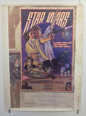 STAR WARS 'circus' style D US 30x40 Original  Movie Poster. Never Folded, Rare!