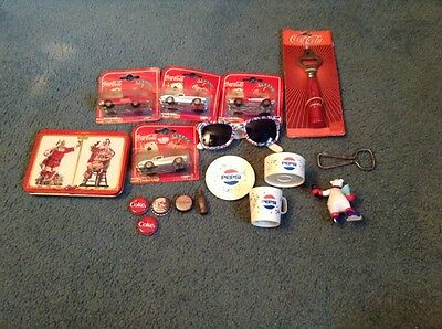 Lot if Coca Cola/Pepsi Collectibles