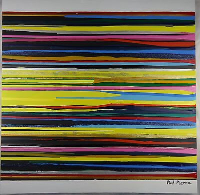 Phil Pierre - STRIPES 087 - new original abstract acrylic art painting on canvas