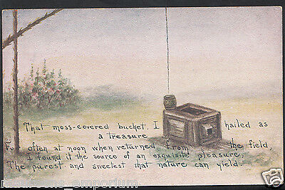 Literature Postcard - Moss Covered Bucket Hailed as a Treasure  RT1844