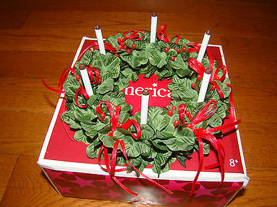 American Girl Kirsten Holiday Christmas St Lucia Wreath With Candals And Box