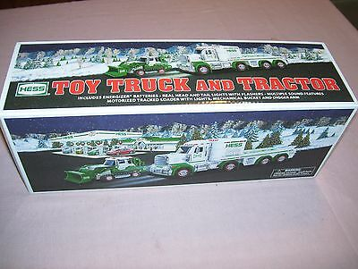 2013 Hess Toy Truck and Tractor in Box Never played with NIB