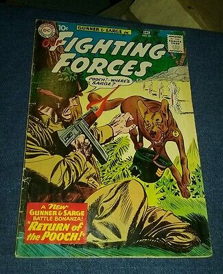 OUR FIGHTING FORCES #58 1959 DC SILVER AGE RETURN OF POOCH GUNNER & SARGE vg lot