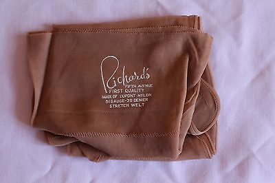 Richards vintage seamed stockings, natural colour.