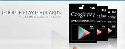 Google Play Gift Card 50€