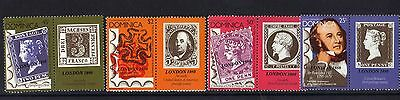 Dominica.rowland Hill Over Print London 1980 Set Mnh 1980