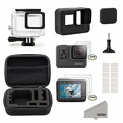 Kupton Accessories Kit for GoPro Hero 5 Black Travel Case Small + Housing Cas...