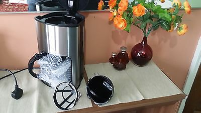 Stainless Steel Filter Coffee Maker Machine 12 Cups Capacity