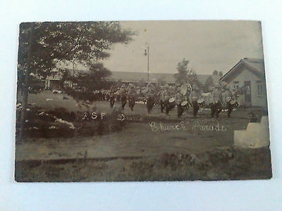 Vintage Royal Scots Fusiliers RSF Church Parade - Pith Helmets