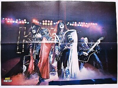 The Kiss  Poster   Mint!!   Original From Rock Magazine   Pin Up / Clipping  # 1
