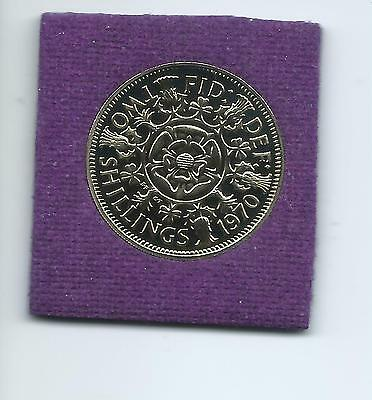 1970 Proof  Two Shillings ( Florin)  coin  from a Proof set.