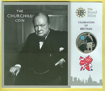 Churchill Base Proof Coin - Celebration of Britain £5 Cupro-nickel - 2010