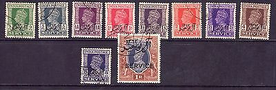 Muscat 1944 Al BuSaid Service set of 10 to 1r cto.
