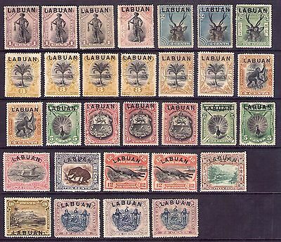 Labuan North Borneo collection of pictorial issues to 24c fine fresh mint