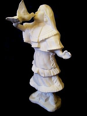 Ceramic Bisque Ready to Paint 1x Native American Indian Small Young Maiden Dove