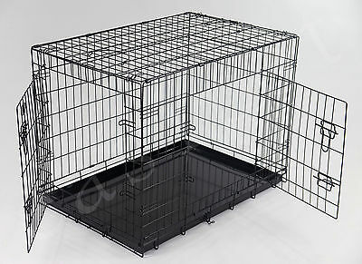 "Dog Cage HEAVY DUTY XL 36"" Pet Puppy Folding Metal Train &Travel Carrier easipet"
