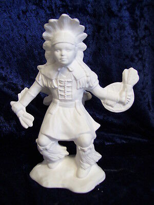 Ceramic Bisque Ready to Paint 1x Native American Indian Small Boy Dancer