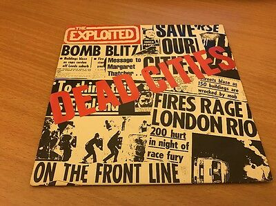 """The Exploited - Dead Cities 7"""" Picture Sleeve Nr Mint"""