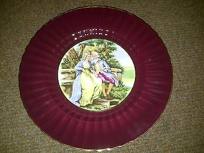 Wade Royal Victoria Pottery Plate Victorian Scene