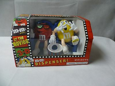 M&M's At The Movies in 3-D Collectible Candy Dispenser NIB