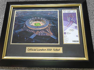 London 2012 Olympic Games OFFICIAL OLYMPIC TICKET FRAME !