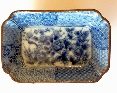 Vintage Oriental Blue and White Small Dish