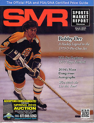 SMR Sports Market Report Magazine March 2015 Bobby Orr Cover NEW/SEALED
