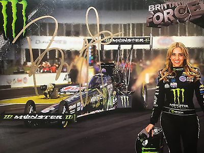 Brittany Force Signed autograph 8x10 2016 photo  Hero Card NHRA