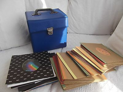 47 Classic 1970s  Vintage Records with Box