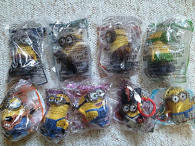 MCDONALDS MINIONS (China Exclusive) COMPLETE SET OF 9  2015