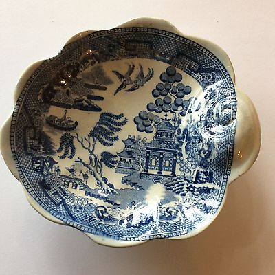 Victorian English Pearlware Porcelain Transferware Blue And White Dish
