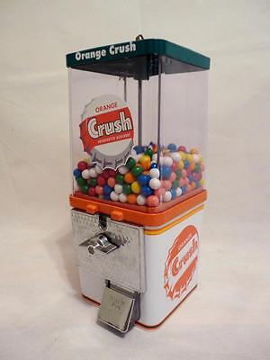 orange crush vintage gumball machine small candy