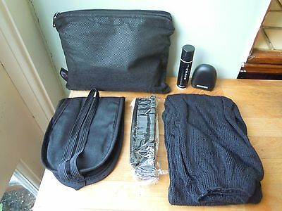 Qatar Airways Business Class Black Amenity Bag with Travel Accessories Kit