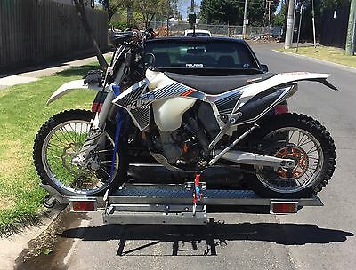 Motorcycle Rack to carry dirtbike on towbar without trailer - Galvanised