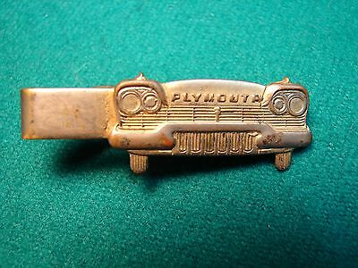 1950's PLYMOUTH CAR DEALER ADVERTISING GENTS TIE BAR