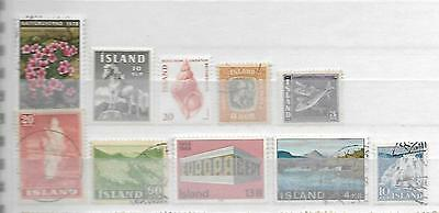 Iceland Island Stamp Collection Some Old Taken From Stock Books + Albums 6210816