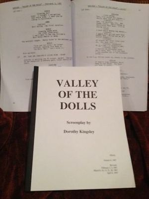 Bound script: Jacqueline Susann VALLEY OF THE DOLLS (Patty Duke, Sharon Tate)