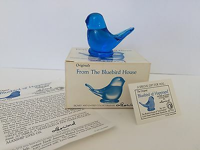 Originals Signed Dated Collectible Leoward Vintage Bluebird of Happiness Gift