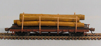 N scale Bachmann ACF 40' Flat Car1935-1960 Version with  removal log Load