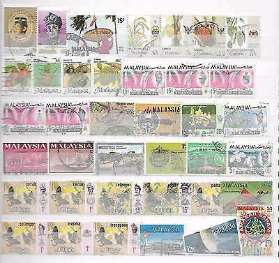 Malaysia Stamps Old + New Taken From Albums + Stockbooks 4250916