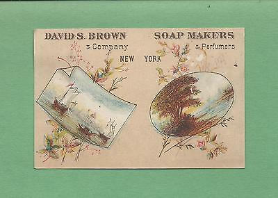 COMPLETE 1882 CALENDAR On DAVID S. BROWN CO. SOAP MAKERS Victorian Trade Card