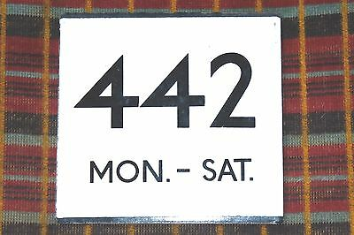 LONDON TRANSPORT COUNTRY AREA E-PLATE : ROUTE 442 MON. - SAT. High Wycombe area