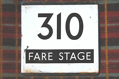 London Transport Country Area Bus Stop E-Plate : Route 310 Fare Stage