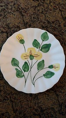 BLUE RIDGE Hand Painted Southern Potteries  SPIDERWORT BREAD AND BUTTER Plate